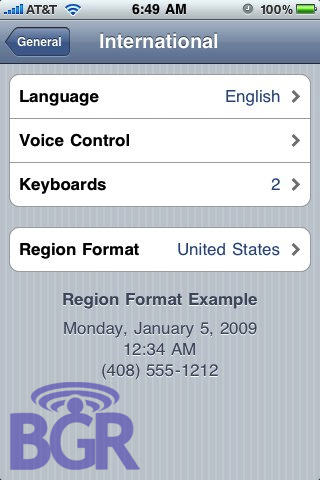 Voice Control in iPhone OS 3.0