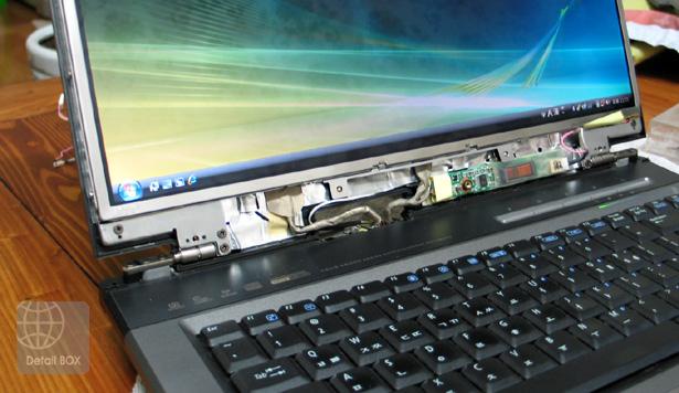 수리 완료된 노트북 LCD