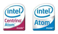 Intel 센트리노 아톰 (실버손) 과 아톰 (다이아몬드빌)의 로고