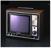 소니 독자의 트리니트론 방식으로 인한 컬러 TV 1호기. KV-1310