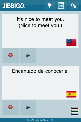 Jibbigo - Voice Translation App for iPhone