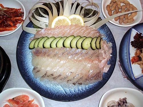 제주에서 먹는 생선회,과연 무엇을 먹을까?