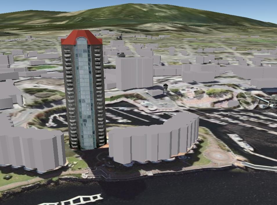 구글어스의 3D 도시 - 나나이모(Nanaimo)