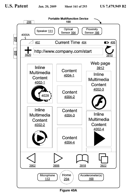 Apple iPhone Touch UI Patent: Flash Was Planned