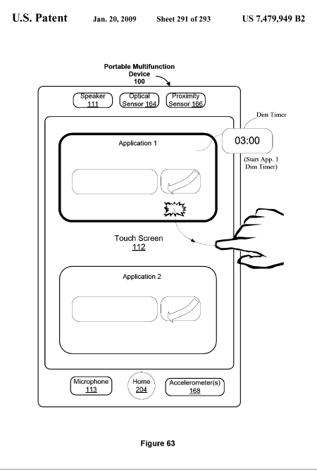 Apple iPhone Touch UI Patent: Basic Apps