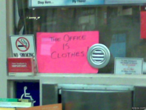 the office is clothes