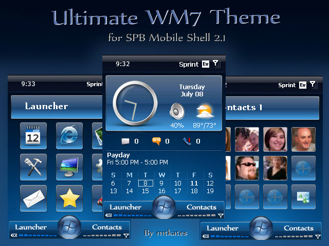 Ultimate WM7 Theme Version 1.2 for SPB Mobile Shell 2.1