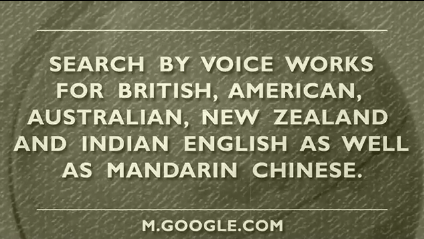 Google Mobile Voice Search - English and Chinese