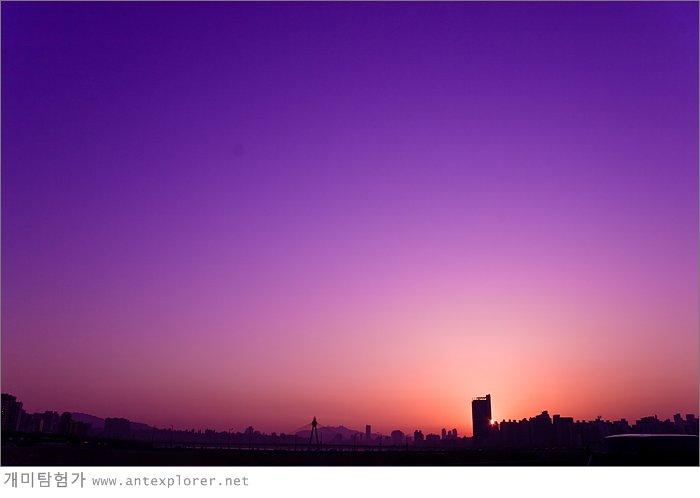 한강 노을 - 광진교에서 바라본 풍경