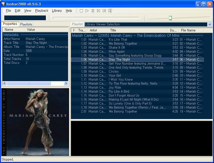 foobar2000 disc info