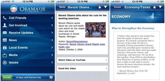 obama08 apps on iPhone