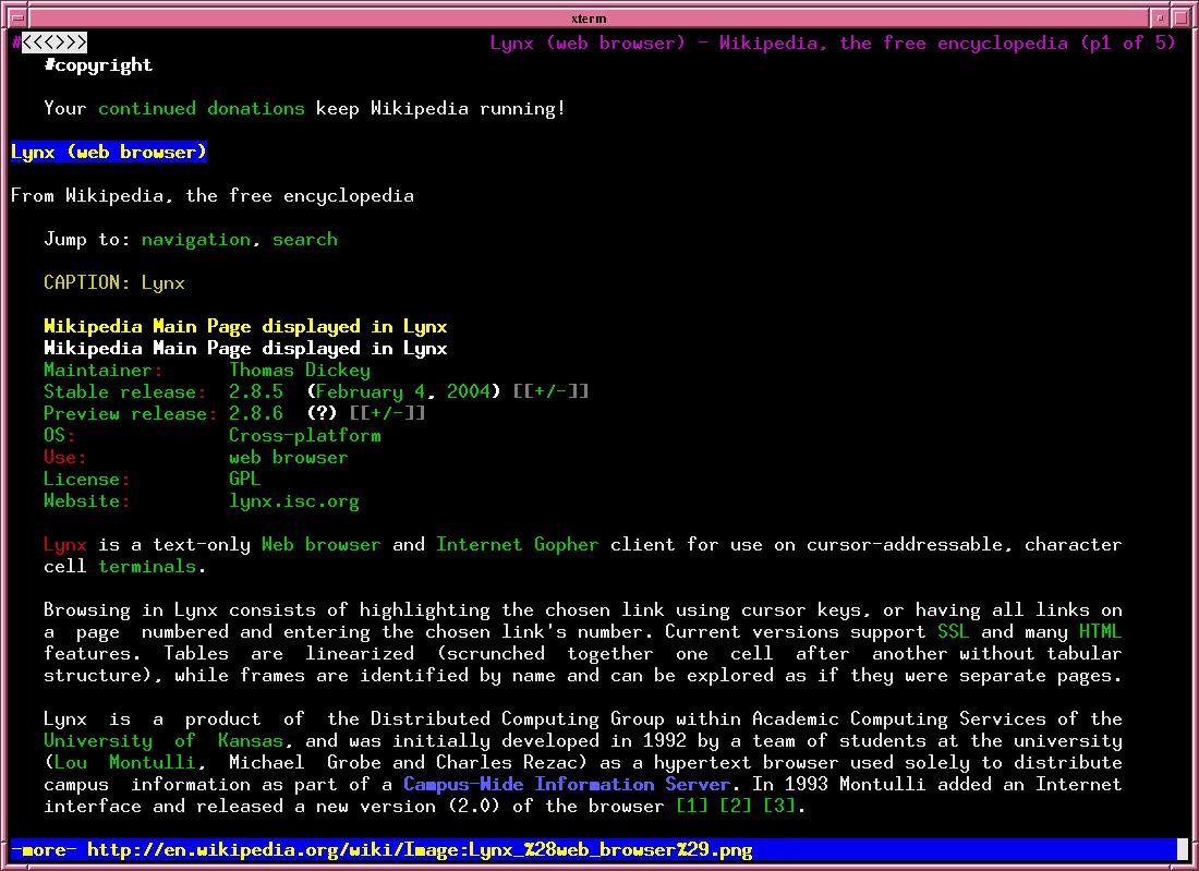 Lynx - Text Web Browser